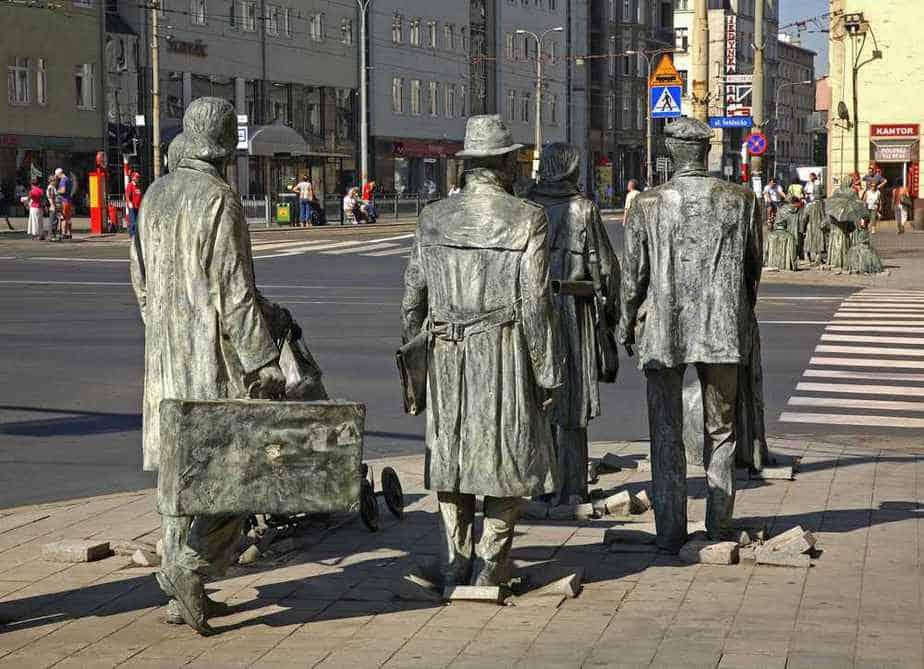 Das Denkmal eines anonymen Passanten