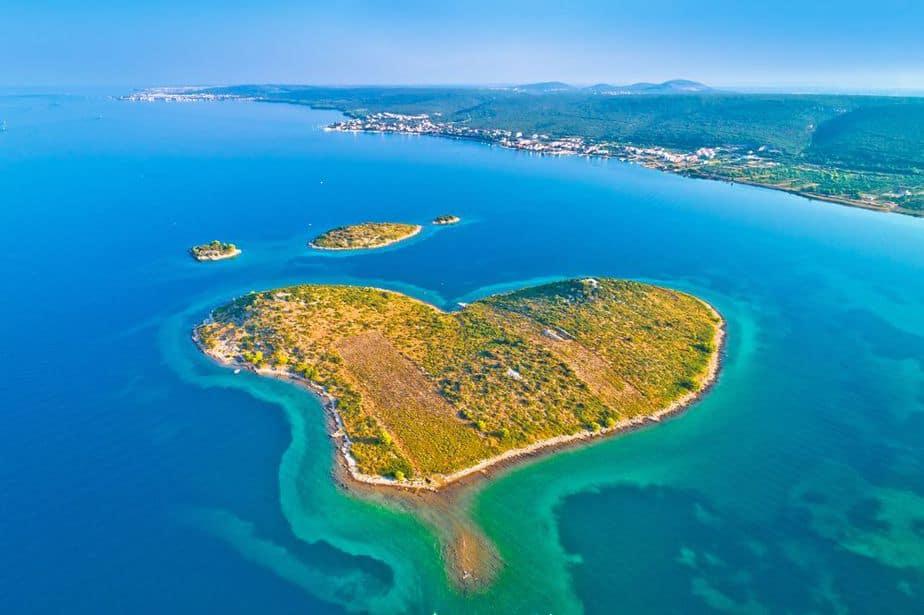 Galešnjak Insel - herzförmige Insel