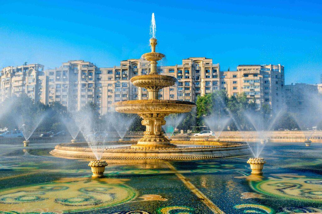 Brunnen auf dem Unirii-Platz Die 12 schönsten Instagram-Spots in Bukarest