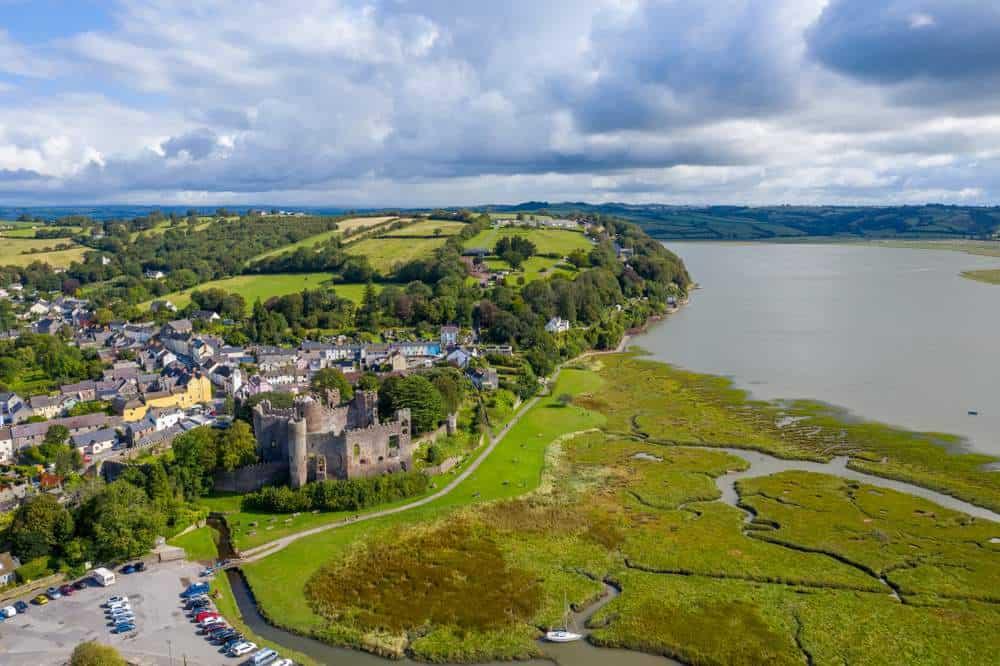 Laugharne Die schönsten Orte in Wales