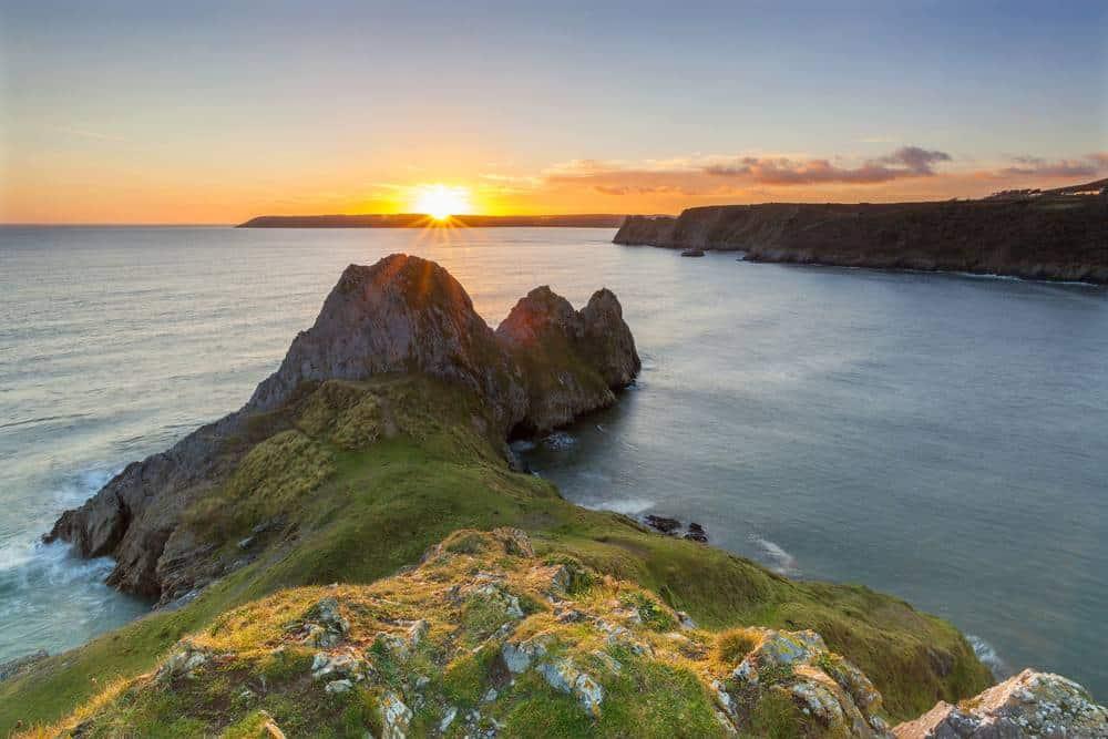 Three Cliffs Bay, Gower Peninsula Die schönsten Strände Wales