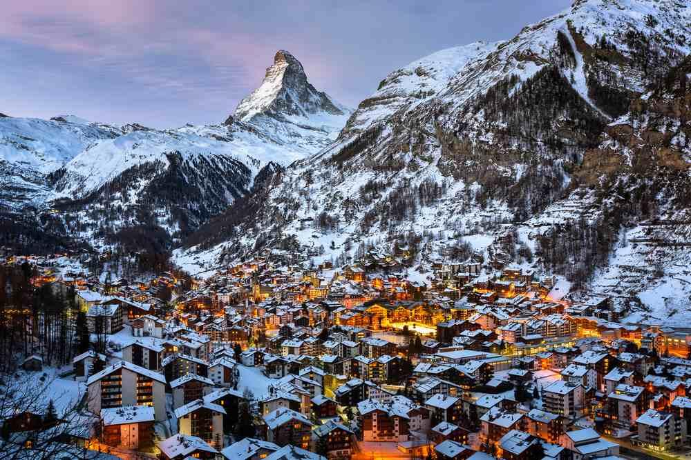 Zermatt, Schweiz Silvester in den Bergen: Die besten Skigebiete Europas